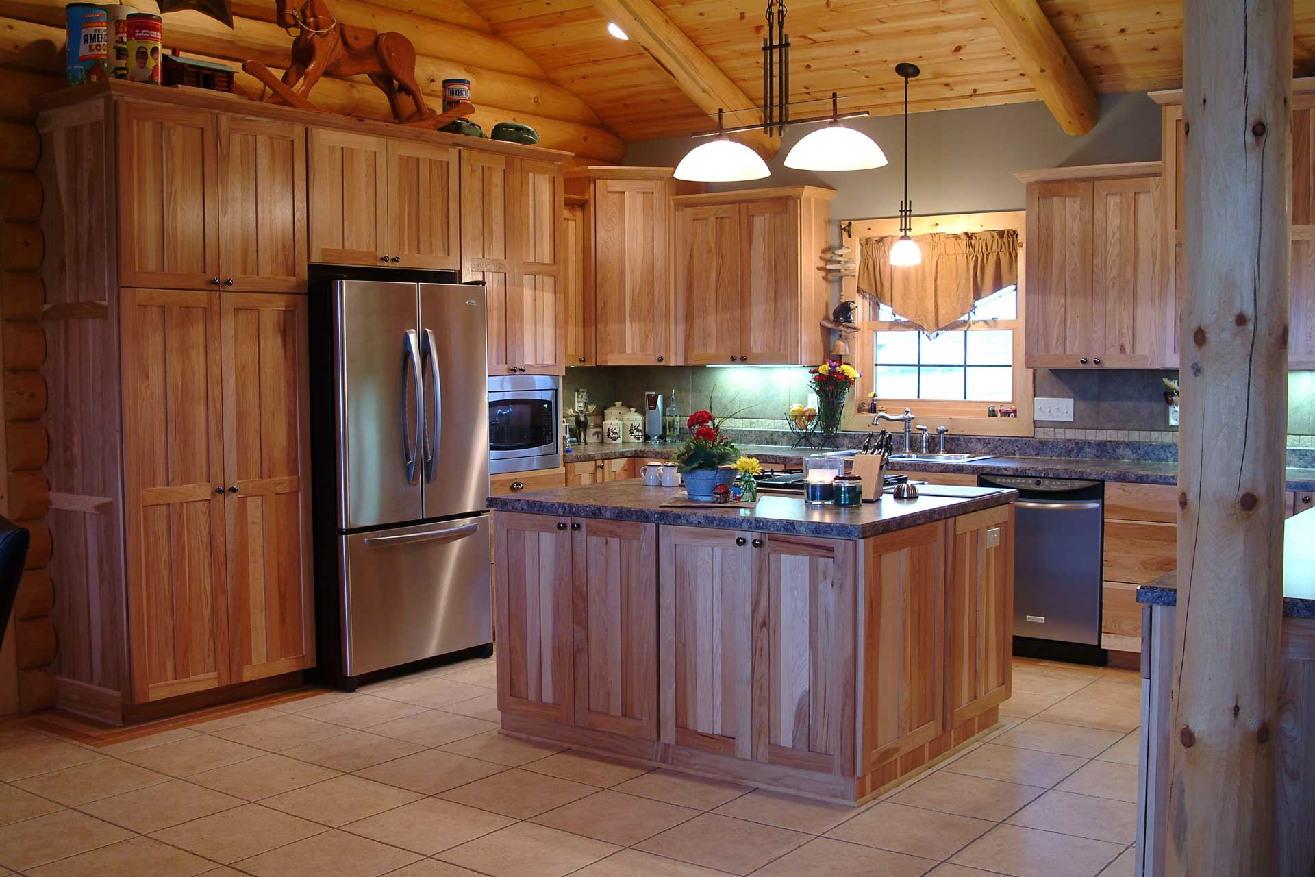 Lodge Log Kitchen